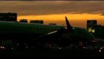 Panning shot that follows plane taxiing at the Jacarepagu