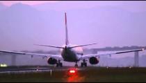 RIO DE JANEIRO, BRAZIL - JUNE 21: Close up of plane taking off at Rio de Janeiro, Brazil