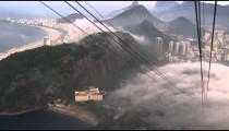 Slow pan of mist over the city in Rio de Janeiro, Brazil