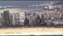 Aerial shot of the city along the beach - Rio de Janeiro, Brazil