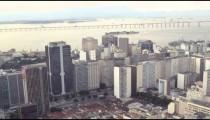 Aerial shot of busy Rio de Janeiro city in Brazil