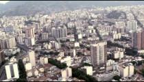 Urban Rio de Janeiro from helicopter