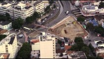 Slow motion aerial footage of urban Rio