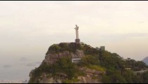 Tracking shot of Rio's Christ Redentor