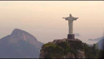 Tracking footage of Rio's Christ Redentor
