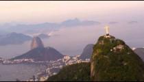 Aerial panorama of Rio de Janeiro, Christ statue