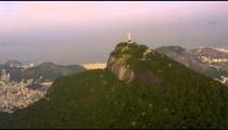 Aerial panorama of Rio de Janeiro, Christ Redentor