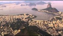 Aerial pan of Rio de Janeiro