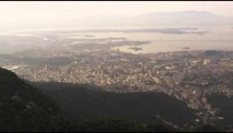 Pan of Rio de Janeiro from helicopter