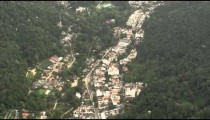 Aerial footage of mountain houses