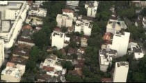 Aerial footage of buildings and trees