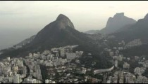 Aerial panorama of Rio on a foggy day
