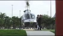 RIO DE JANEIRO-JUNE 21: Helicopter is prepped for takeoff on June 21, 2013 in Rio de Janeiro.