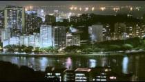 Aerial time lapse of bay and peninsula of Rio de Janeiro, Brazil