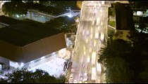 Aerial time lapse from above over a busy street in Rio de Janeiro, Brazil