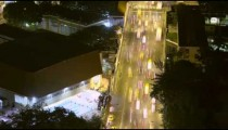 Time lapse above busy street with traffic in Rio de Janeiro, Brazil