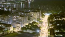 Time lapse of busy street and cityscape in Rio de Janeiro, Brazil