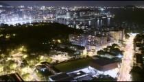 View of Rio de Janeiro, Brazil timelapse at night
