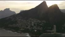 Aerial shot of dos irmaos and the vidigal favela
